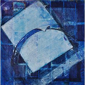 Le mur bleu